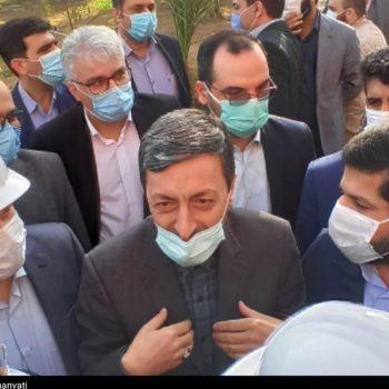 """بازدید رئیس بنیاد مستضعفان از پروژه بیمارستان """"علوی"""" آبادان"""